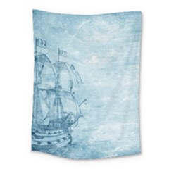 Sail Away   Vintage   Medium Tapestry by WensdaiAddamns