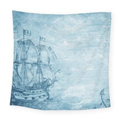 Sail Away   Vintage   Square Tapestry (large) by WensdaiAddamns