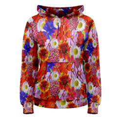 Multicolored Daisies Women s Pullover Hoodie