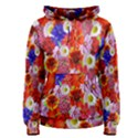 Multicolored Daisies Women s Pullover Hoodie View1