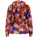 Multicolored Daisies Women s Pullover Hoodie View2