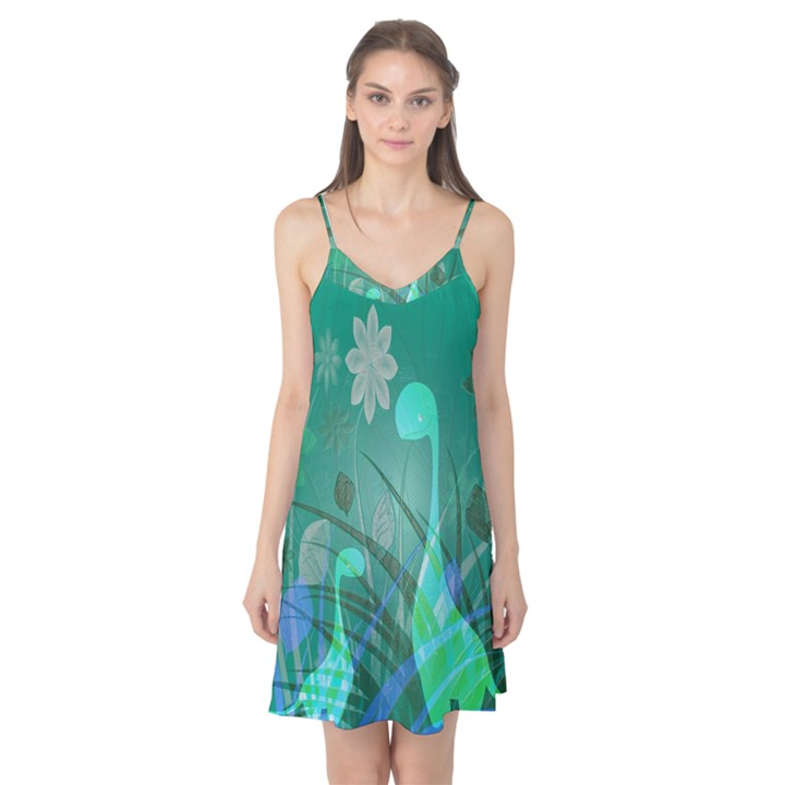 Dinosaur Family - Green - Camis Nightgown