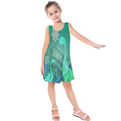 Dinosaur Family   Green   Kids  Sleeveless Dress by WensdaiAddamns