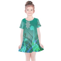 Dinosaur Family   Green   Kids  Simple Cotton Dress by WensdaiAddamns