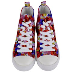 Multicolored Daisies Women s Mid Top Canvas Sneakers
