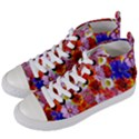 Multicolored Daisies Women s Mid-Top Canvas Sneakers View2
