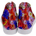 Multicolored Daisies Women s Mid-Top Canvas Sneakers View4