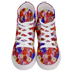 Multicolored Daisies Women s Hi Top Skate Sneakers
