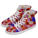 Multicolored Daisies Women s Hi-Top Skate Sneakers View2