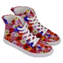 Multicolored Daisies Women s Hi-Top Skate Sneakers View3