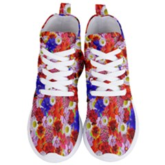 Multicolored Daisies Women s Lightweight High Top Sneakers