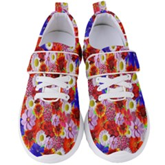 Multicolored Daisies Women s Velcro Strap Shoes