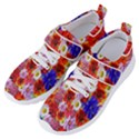 Multicolored Daisies Women s Velcro Strap Shoes View2