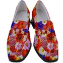 Multicolored Daisies Women s Chunky Heel Loafers View1