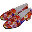 Multicolored Daisies Women s Chunky Heel Loafers View2