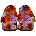 Multicolored Daisies Women s Chunky Heel Loafers View4