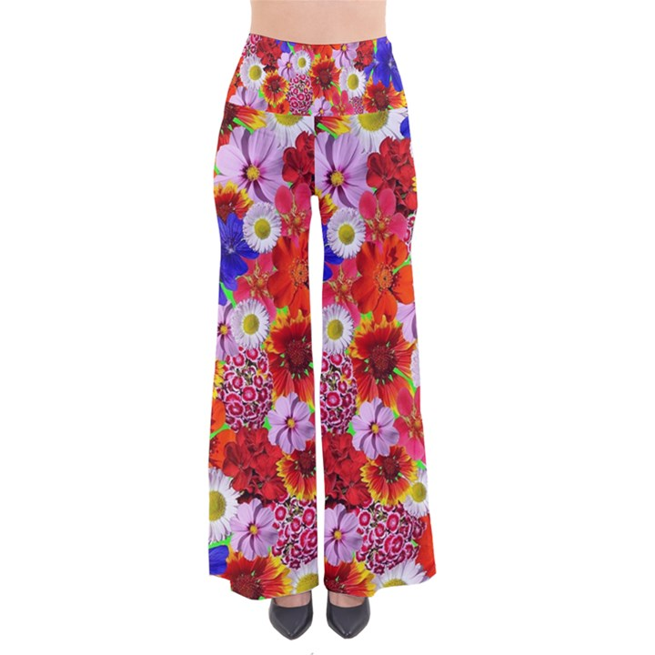 Multicolored Daisies So Vintage Palazzo Pants