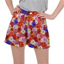 Multicolored Daisies Stretch Ripstop Shorts View1