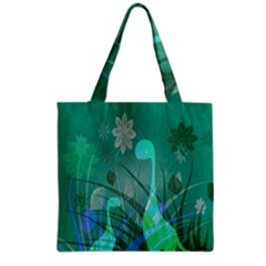 Dinosaur Family   Green   Grocery Tote Bag