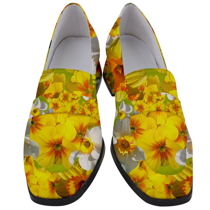 Daffodil Surprise Women s Chunky Heel Loafers
