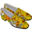 Daffodil Surprise Women s Chunky Heel Loafers View3