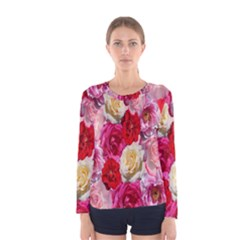 Bed Of Roses Women s Long Sleeve Tee
