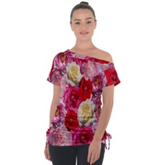 Bed Of Roses Tie Up Tee