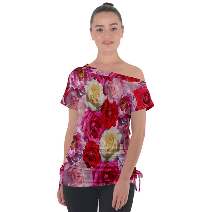 Bed Of Roses Tie-Up Tee