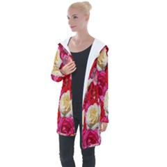 Bed Of Roses Longline Hooded Cardigan