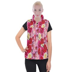Bed Of Roses Women s Button Up Vest