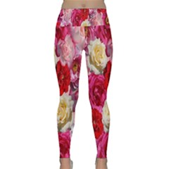 Bed Of Roses Lightweight Velour Classic Yoga Leggings