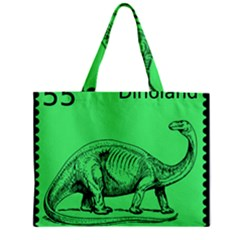 Dinoland Stamp   Zipper Mini Tote Bag by WensdaiAddamns