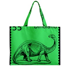 Dinoland Stamp   Medium Tote Bag by WensdaiAddamns