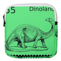 Dinoland Stamp   Mini Square Pouch by WensdaiAddamns