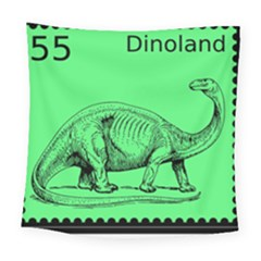 Dinoland Stamp   Square Tapestry (large) by WensdaiAddamns