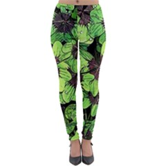Lucky   Clover Design   Lightweight Velour Leggings