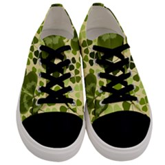 Drawn To Clovers Men s Low Top Canvas Sneakers