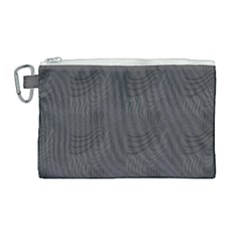 Gray Swirl Canvas Cosmetic Bag (large) by modernwhimsy