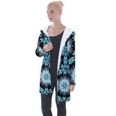 Backgrounds Pattern Wallpaper Longline Hooded Cardigan