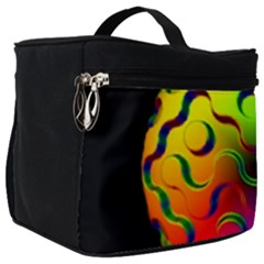 Ball Sphere Digital Art Fractals Make Up Travel Bag (big)