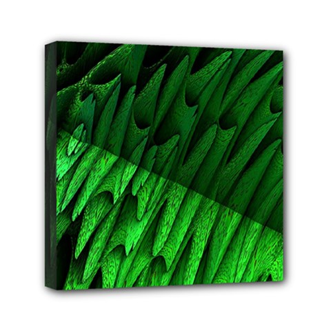 Fractal Rendering Background Green Mini Canvas 6  X 6  (stretched)