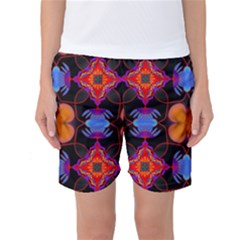 Ornament Colorful Color Background Women s Basketball Shorts