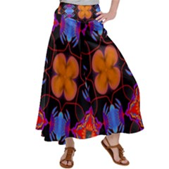 Ornament Colorful Color Background Satin Palazzo Pants
