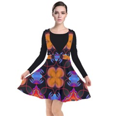 Ornament Colorful Color Background Plunge Pinafore Dress