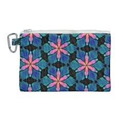 Ornament Digital Color Colorful Canvas Cosmetic Bag (large)