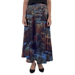 Building Ruins Old Industry Flared Maxi Skirt by Pakrebo