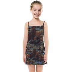 Building Ruins Old Industry Kids  Summer Sun Dress by Pakrebo