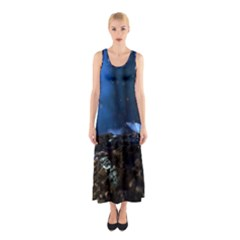 Butterflies Essence Sleeveless Maxi Dress