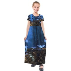 Butterflies Essence Kids  Short Sleeve Maxi Dress by WensdaiAddamns