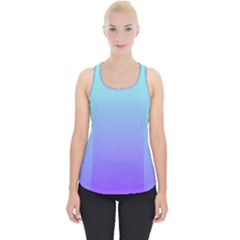 Turquoise Purple Dream Piece Up Tank Top by retrotoomoderndesigns